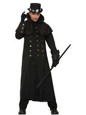 Mago Brujo Abrigo Bruja Negro Gabardina Tamaño Adulto para Fiesta de Halloween