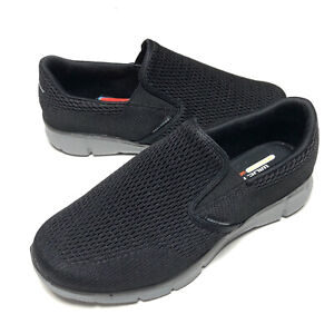 Skechers Equalizer Double Play Canvas Closed Toe Black 51509 Mens Size 10 Wide
