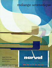 PUBLICITE ADVERTISING 026  1963  Narval  tabac pour pipe