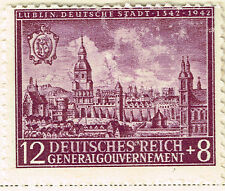 Germany General Government WW2 Lublin Occupation stamp 1942 MLH
