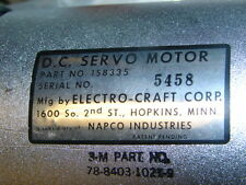 ELECTRO-CRAFT/RELIANCE 158335 3M 78-8403-1021-9 DC SERVO MOTOR ***NNB***