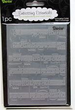 Darice Embossing Folder ~ Sheet Music ~  Background Cardmaking A2 1216-68