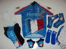 FRANCE Team Cycling Set Jersey Bib Shorts Gloves  XXXL