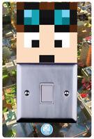 Dan TDM Minecraft Girls Boys Children Room Light switch Surround Sticker-LSW05