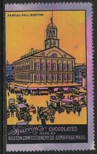 USA 1910 Poster stamp: Sparrow Chocolates made by Boston Confectionery - dw459d
