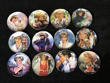 Princess Diana Porcelain Franklin Mint Heirloom Plates - Set Of 12 - Excellent
