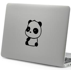 Panda Sitting Sticker Vinyl Car window Decal 125mm x 100mm