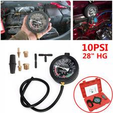 "Car SUV Carburetor Valve Fuel Pump Pressure Vacuum Tester Gauge Kit 28"" HG 10PSI"