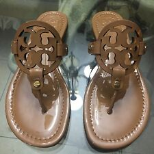 Brand New Tory Burch Miller Sandal Size 7 Sand Patent