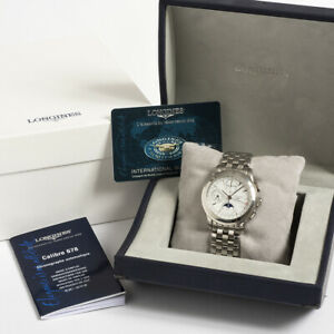 LONGINES FLAGSHIP TRIPLE DATE MOONPHASE CHRONOGRAPH L4750. Box & Papers.