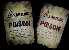 "Handmade 'arsenico VELENO ""Halloween BOTTIGLIA Adesivi-Set di 8 Rosso/Nero"