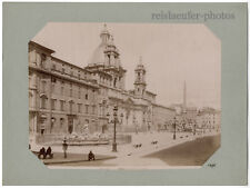 ROM. PIAZZA NAVONA, ORIG.-ALBUMIN-PHOTO UM 1880
