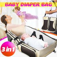 3 in 1 Baby Diaper Tote Bag Travel Bassinet Change Station Bed Infant  AU1