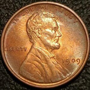 1909 VDB Lincoln Wheat Cent Penny 1c GEM BU+ Uncirculated Rainbow Toned P2284