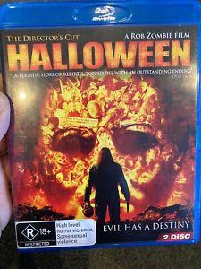 Halloween BLU RAY (2 discs) 2007 Rob Zombie horror movie ** rare **