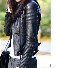 Women Moto Biker Bomber Leather Jackets DESIGNER Coat Outerwear Jacket