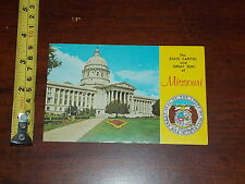Postcard Rare Vintage State Capitol Great Seal Of Missouri
