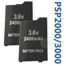 2pk New 2400mAh Rechargeable Battery for Sony PSP 2000/2001/2003/2004 Slim