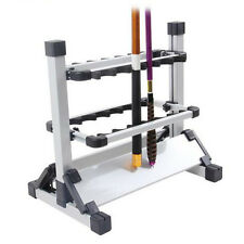 Portable Fishing 12 Rod Rack Pole Holder High Aluminum Alloy Stand Storage Tool