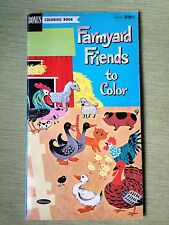 VTG Whitman coloring book 1962 Farmyard Friends to Color used Jill Elgin