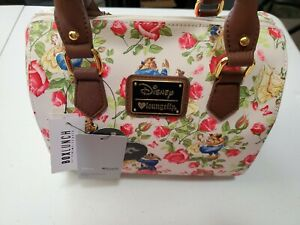 Loungefly Disney Beauty and The Beast Dancing Floral Barrel Bag