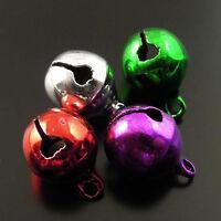 10mm Assorted Color Brass Metal Jingle Bell Christmas Decoration Wholesale 60pcs