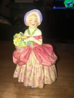 """Royal Doulton Figurine Cissie HH 1809 5"""" High Vintage Bone China Made In England"""