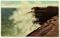 Witches Couldron La Jolla California Postcard CA Waves Rocks 1900's 1910's