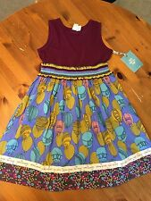 Matilda Jane Paint By Numbers Elevated Tank Dress Air Balloons 10 NWT