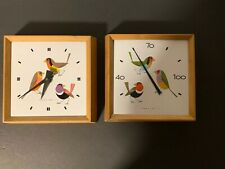 Vintage Charley Harper Honeywell Clock And Thermometer Set