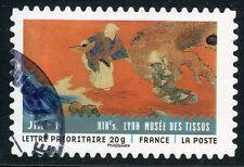 TIMBRE FRANCE AUTOADHESIF OBLITERE N° 520 / TISSUS DU MONDE / TISSU JAPONAIS