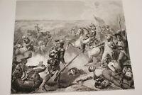 BATAILLE DE FLEURUS REVOLUTION 1794 GRAVURE 1838 VERSAILLES R1360
