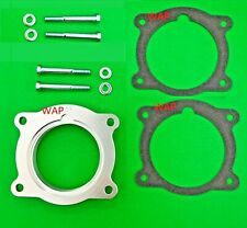 SILVER Throttle Body Spacer Fit PONTIAC G6, G8, TORRENT/08-13 GMC ACADIA V6 3.6L
