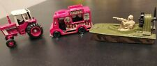 Lot Of 3 Matchbox Vintage Swamp Rat tractor 1976-83 & Hot wheels food truck