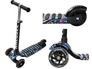 Kinderroller Tretroller Dreiradscooter Leuchträder Höheverstellbar 10282