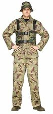 Costume Suit Delta Force Army Military Camo Camouflage Jumpsuit -Std Mens One SZ