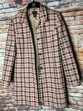 Grace Elements Chunky Weave Boucle Coat/Jacket - Size 14 Pink Brown