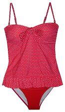 New Women's Marina West Long Tankini Bikini Large XXL 14 Swimsuit Red Dot