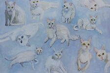 "White Cats portrait 24"" x 36"""