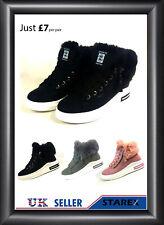 12 Pair Wholesale Joblot 3 Color Fur  Lined  Winter  Ankle  Boots Multi Size