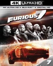 Furious 7 4K Ultra HD Blu-ray + Blu-ray + Digital HD brand new