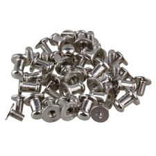 20 Pieces Zinc Alloy Boots Handbags Button Studs Screw Back Button Spots Silver