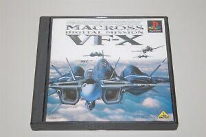 Macross Digital Mission VF-X Japan Sony Playstation 1 PS1 game