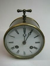 A Brass Cased French Striking Mantel Clock (PC)