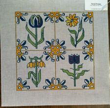 Art Deco Flowers Handpainted Needlepoint Canvas