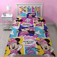 Disney Minnie Mouse 'Attitude' Single Duvet Cover Bedding Set