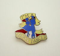 Vintage I'm a Square Dancer Hat 1970s Hat Lapel Pin New NOS