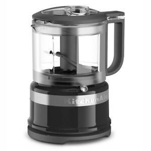 KitchenAid 3.5 Cup Mini Food Processor Chopper, Black (Certified Refurbished)