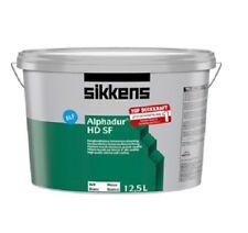 5x Sikkens Alphadur HD SF weiß 12,5 L Hochwertige waschbeständige Innenwandfarbe