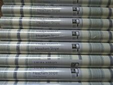 Price Per Roll Laura Ashley Heacham Stripe Dark Seaspray Wallpaper Same Batch